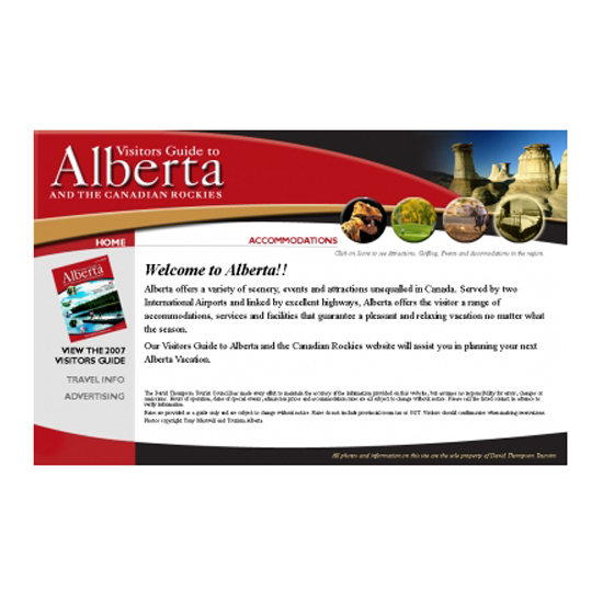 Visitors Guide to Alberta