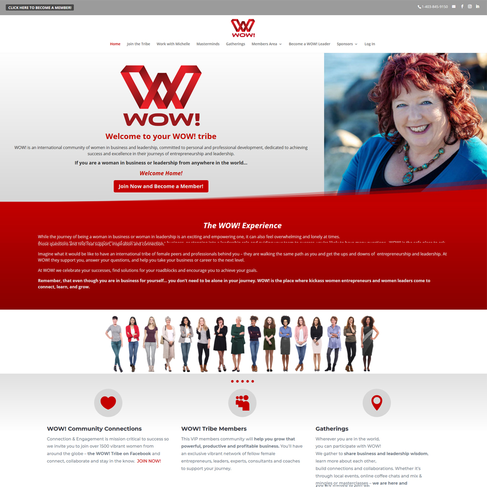 Wow! Website Home Page